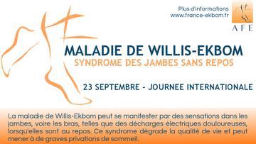 Syndrome des jambes sans repos : Journée internationale le